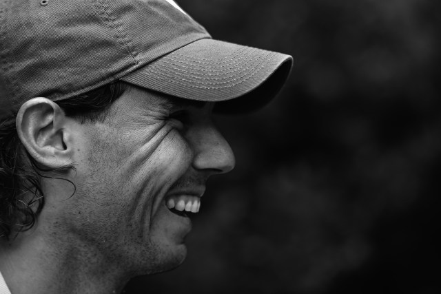 Rafael Nadal laughs during a pre-tournament TV interview, 16 January 2016. - Ben Solomon/Tennis Australia
