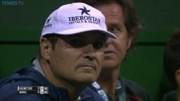 Rafael Nadal's both coaches in Doha Qatar Open 2016