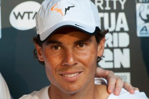 MADRID, SPAIN - APRIL 29: Rafa Nadal attends Charity day tournament during Mutua Madrid Open at Caja magica on April 29, 2016 in Madrid, Spain. (Photo by Juan Naharro Gimenez/WireImage)