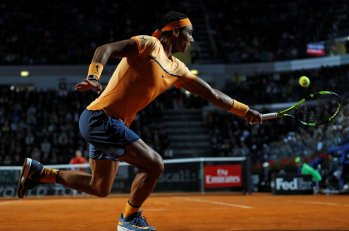 Tennis - Italy Open - Rafael Nadal of Spain v Philipp Kohlschreiber of Germany - Rome, Italy - 11/5/16 Nadal returns the ball. REUTERS/Stefano Rellandini
