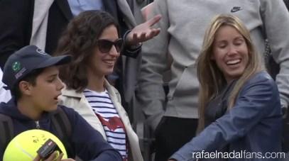 Rafael Nadal girlfriend Maria Francisca Perello and sister Maria Isabel at Rome Masters R3 2016