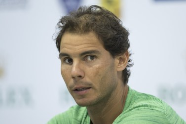 Rafael Nadal of Spain speaks during a press conference on day two of Shanghai Rolex Masters at Qi Zhong Tennis Centre on October 10, 2016 in Shanghai, China. (Photo by Lintao Zhang/Getty Images)