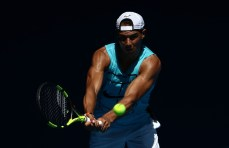 Rafael Nadal during a practice session ahead of the 2017 Australian Open at Melbourne Park on January 12, 2017 in Melbourne, Australia. (Scott Barbour/Getty Images)