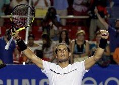 Tennis - Mexican Open - Men's Singles - Quarter-Final - Acapulco, Mexico- 02/03/17. Spain's Rafael Nadal celebrates his victory against Yoshihito Nishioka of Japan. REUTERS/Henry Romero