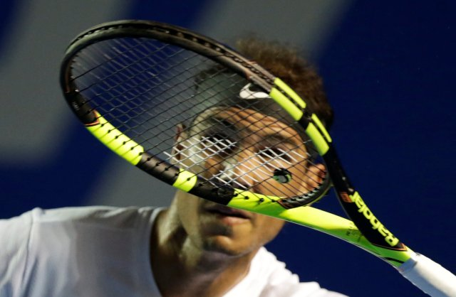 Tennis - Mexican Open - Men's Singles - Second Round - Acapulco, Mexico 01/03/17. Spain's Rafael Nadal in action against Italy's Paolo Lorenzi. REUTERS/Henry Romero