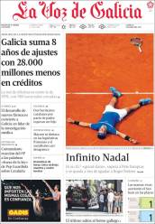 Newspaper front pages cover Rafael Nadal victory at Roland Garros 2017 front page (5)