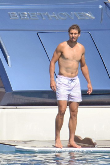 Rafael Nadal short holiday on yacht in Spain (13)