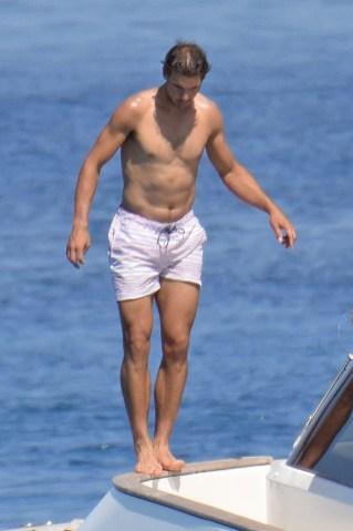 Rafael Nadal short holiday on yacht in Spain (5)