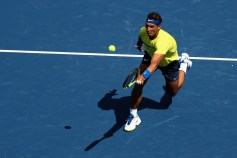 Rafael Nadal of Spain returns a shot to Albert Ramos-Vinolas of Spain during Day 7 of the Western and Southern Open at the Linder Family Tennis Center on August 18, 2017 in Mason, Ohio. (Aug. 17, 2017 - Source: Rob Carr/Getty Images North America)