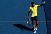 Rafael Nadal of Spain acknowledes the crowd after his win over Albert Ramos-Vinolas of Spain during day 7 of the Western & Southern Open at the Lindner Family Tennis Center on August 18, 2017 in Mason, Ohio. (Aug. 17, 2017 - Source: Matthew Stockman/Getty Images North America)