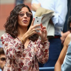 Xisca Perello looks on in the stands before the Men's Singles finals match between Kevin Anderson of South Africa and Rafael Nadal of Spain on Day Fourteen of the 2017 US Open at the USTA Billie Jean King National Tennis Center on September 10, 2017 in the Flushing neighborhood of the Queens borough of New York City. (Sept. 9, 2017 - Source: Clive Brunskill/Getty Images North America)