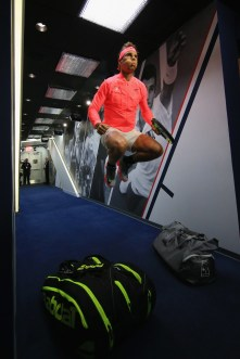 Rafal Nadal of Spain prepares to play against Leonardo Mayer of Argentina in their third round Men's Singles match on Day Six during the 2017 US Open at the USTA Billie Jean King National Tennis Center on September 2, 2017 in the Queens borough of New York City. (Sept. 1, 2017 - Source: Chris Trotman/Getty Images North America)