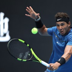 Rafael Nadal of Spain in action during the Men's singles Quarterfinals match against John Isner of the United States on day seven of 2017 China Open at the China National Tennis Centre on October 6, 2017 in Beijing, China. (Oct. 5, 2017 - Source: Lintao Zhang/Getty Images AsiaPac)