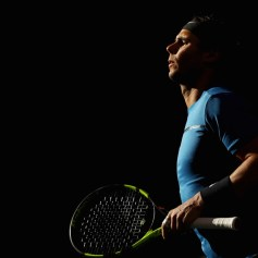 Rafael Nadal of Spain warms up prior to his match against Pablo Cuevas of Uraguay during Day 4 of the Rolex Paris Masters held at the AccorHotels Arena on November 2, 2017 in Paris, France. (Nov. 1, 2017 - Source: Dean Mouhtaropoulos/Getty Images Europe)