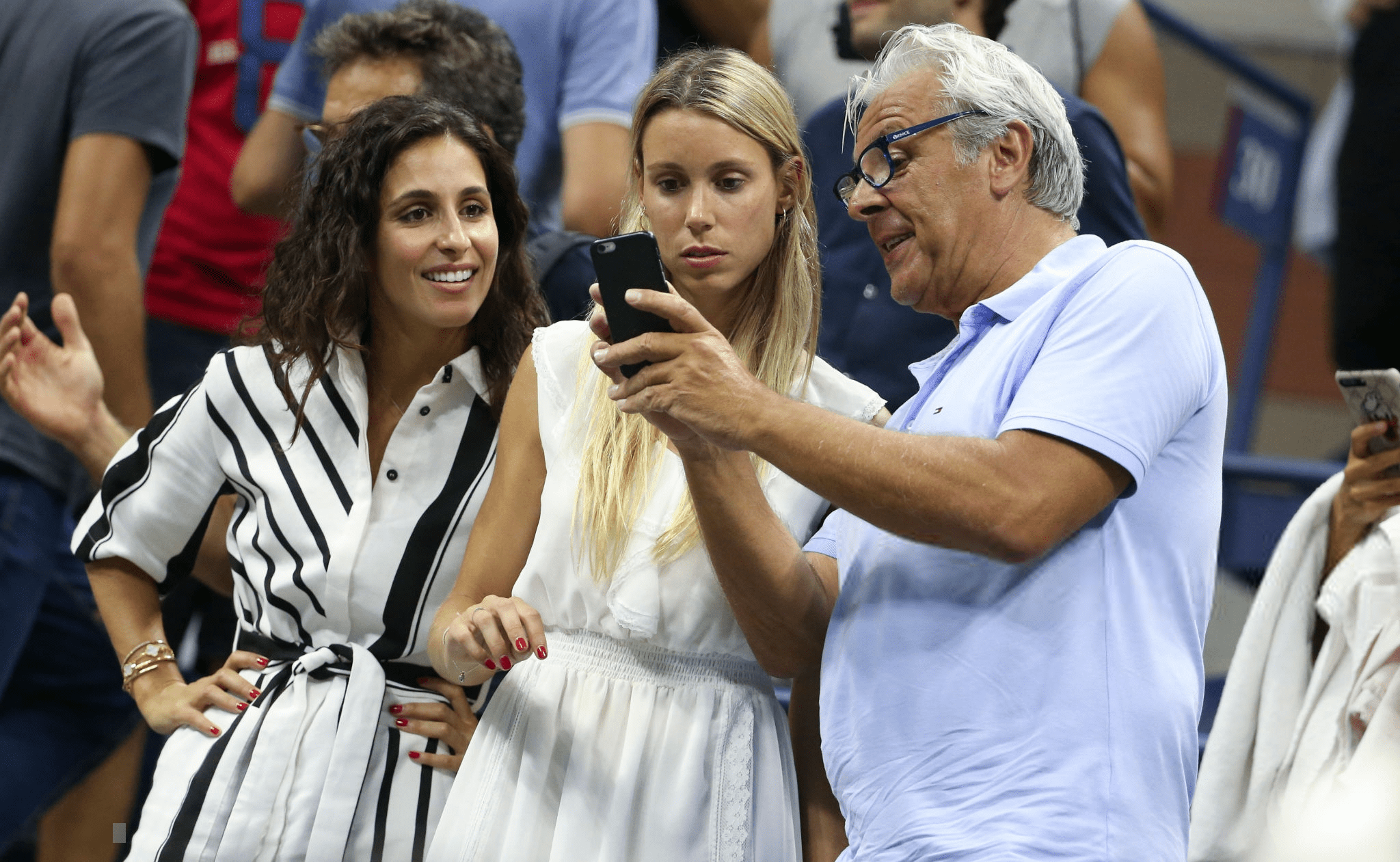 Rafael Nadal Girlfriend Sister And Father At 2018 Us Open Photo Qf Rafael Nadal Fans
