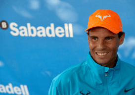 Rafael Nadal attends the Barcelona Open Banc Sabadell 2019 at Real Club de Tennis de Barcelona on April 24, 2019 in Barcelona, Spain. (Photo by fotopress/Getty Images)