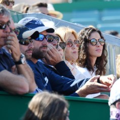 La clan Nadal avec Ana Maria Parera, la mčre de Rafael Nadal, et Maria Francisca Perello, la fiancée de Rafael Nadal, durant la rencontre Rafael Nadal contre Roberto Bautista Agut sur le court Rainier III durant le Rolex Monte Carlo Masters 2019 ŕ Roquebrune Cap Martin, le 17 avril 2019. Rafael Nadal s'est qualifié en battant son compatriote 6-1 / 6-1. © Bruno Bebert / Bestimage Nadal vs Agut (6-1 / 6-1)during Monte Carlo Rolex Masters 2019 at Roquebrune Cap Martin on april 17th 209, Image: 426570108, License: Rights-managed, Restrictions: , Model Release: no, Credit line: Profimedia, Bestimages