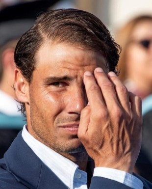 Spanish tennis player Rafa Nadal attends the graduation ceremony of Rafa Nadal Academy, students of American International School of Mallorca, in Manacor, Balearic Islands, Spain, 11 June 2019. Rafa Nadal Academy graduation ceremony !ACHTUNG: NUR REDAKTIONELLE NUTZUNG! PUBLICATIONxINxGERxSUIxAUTxONLY Copyright: xCATIxCLADERAx GRAF6874 20190611-636958841789297799