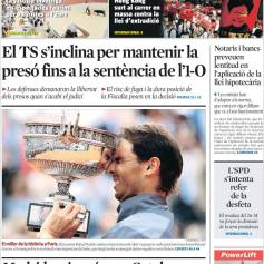Rafael Nadal's Roland Garros Victory On Newspaper Front Pages (18)