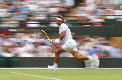 Rafael Nadal during his match against Sam Querrey on day nine of the Wimbledon Championships at the All England Lawn Tennis and Croquet Club, Wimbledon. (Photo by Steve Paston/PA Images via Getty Images)