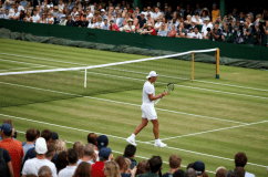 Rafael Nadal during a practice session on court eleven on day nine of the Wimbledon Championships at the All England Lawn Tennis and Croquet Club, Wimbledon. (Photo by Steven Paston/PA Images via Getty Images)