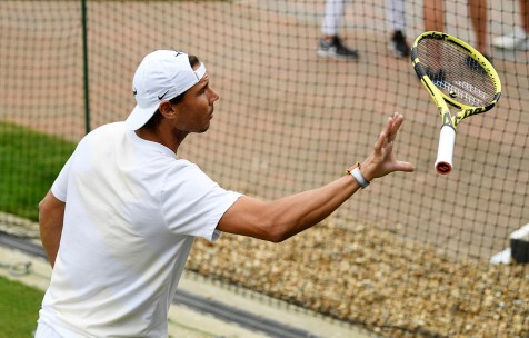 Tennis - Wimbledon - All England Lawn Tennis and Croquet Club, London, Britain - July 7, 2019 Spain's Rafael Nadal during a practice session REUTERS/Tony O'Brien