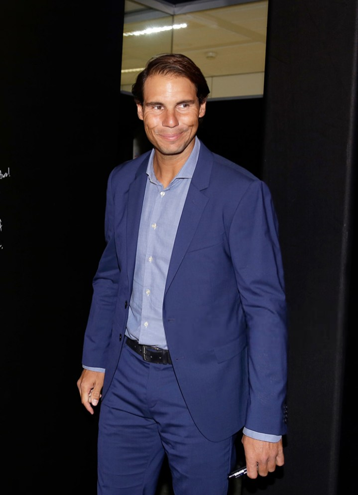 MADRID, SPAIN - OCTOBER 09: Rafa Nadal attends '42Madrid', the programming campus without classes, without teachers and without books that Fundación Telefónica has just opened at Fundacion Telefonica' on October 09, 2019 in Madrid, Spain. (Photo by Europa Press Entertainment/Europa Press via Getty Images)