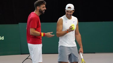 Rafael Nadal and Marcel Granollers 2019 Davis Cup Finals in Madrid