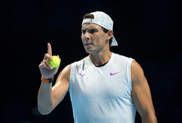 Rafa NADAL of Spain during practice at the Nitto ATP, Tennis Herren Finals Tennis London MEDIA DAY at the O2, London, England on 8 November 2019. PUBLICATIONxNOTxINxUK Copyright: xAndyxRowlandx PMI-3189-0034