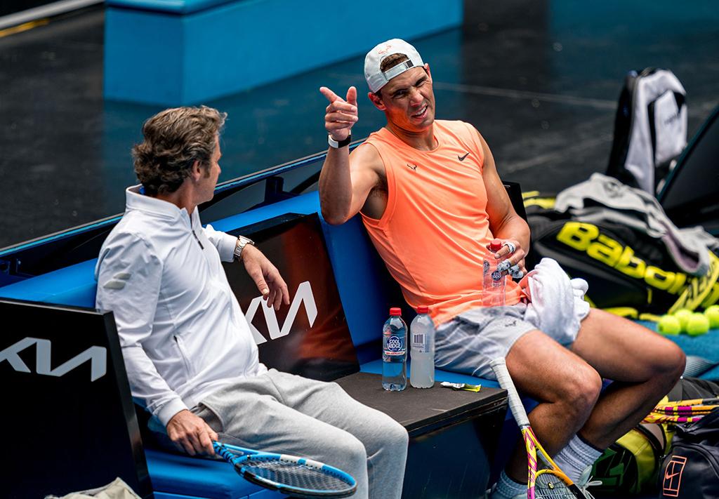 Australian Open 2021: Sunday practice photos - Rafael ...