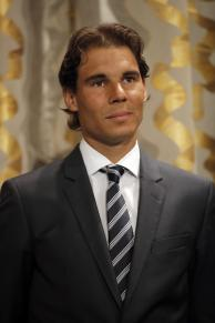 Tennis player Rafael Nadal looks on prior to receive from Paris Mayor Anne Hidalgo the Grand Vermeil Paris medal during a ceremony at the Paris city Hall, in Paris, France, Thursday, May 21, 2015. By winning the 2014 French Open, Nadal became the only male player to win a single Grand Slam tournament nine times and he begins defense his title on the upcoming French Open at Roland Garros stadium next week.(AP Photo/Francois Mori)