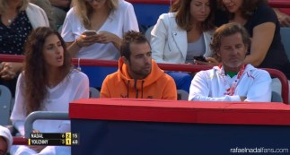 Maria Francisca Perello cheers on boyfriend Rafael Nadal at Rogers Cup in Montreal