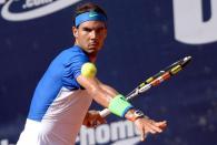 Rafael Nadal in action during the semi-final match against Andreas Seppi of Italy at the ATP Tennis Tournament in Hamburg, Germany, 1 August 2015. (Tenis, Alemania, Italia, Hamburgo) EFE/EPA/Daniel Reinhardt