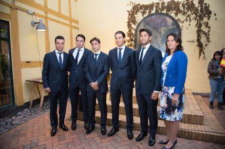 Rafael Nadal Poses Before Davis Cup Dinner (10)