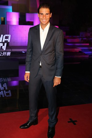 BEIJING, CHINA - OCTOBER 05: Rafael Nadal of Spain arrives at the 2015 China Open Player Party at The Birds Nest on October 5, 2015 in Beijing, China. (Photo by Chris Hyde/Getty Images)