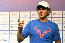 Rafael Nadal of Spain gestures as he talks to a journalist after a press conference at the China Open tennis tournament in Beijing on October 4, 2015 (AFP Photo/Mandy Wang)