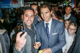 STUTTGART, GERMANY - NOVEMBER 10: Rafael Nadal attends the Tommy Hilfiger X Rafael Nadal @ Breuninger on November 10, 2015 in Stuttgart, Germany. (Photo by Franziska Krug/Getty Images for Tommy Hilfiger)
