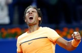 Spain's Rafael Nadal celebrates after winning the Barcelona Open tennis tournament in Barcelona, Spain, Sunday, April 24, 2016. Spain's Rafael Nadal defeated Japan's Kei Nishikori 6-4 and 7-5, in the final. (AP Photo/Manu Fernandez)