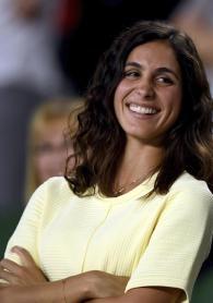 Xisca Perelló, novia del tenista español Rafael Nadal, sonríe durante el partido de octavos de final del Abierto de Australia de tenis que Nadal disputó contra el galo Gael Monfils en Melbourne, hoy, 23 de enero de 2017. EFE/Tracey Nearmy
