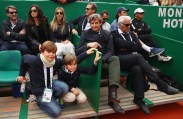 The family box of Rafael Nadal of Spain as they watch him play against Albert Ramos-Vinolas of Spain in the final on day eight of the Monte Carlo Rolex Masters at Monte-Carlo Sporting Club on April 23, 2017 in Monte-Carlo, Monaco. (April 22, 2017 - Source: Clive Brunskill/Getty Images Europe)