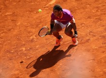 Rafael Nadal of Spain celebrates defeating Novak Djokovic of Serbia in the semi finals during day eight of the Mutua Madrid Open tennis at La Caja Magica on May 13, 2017 in Madrid, Spain. (May 12, 2017 - Source: Julian Finney/Getty Images Europe)