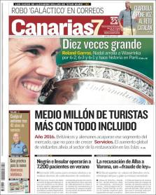 Newspaper front pages cover Rafael Nadal victory at Roland Garros 2017 front page (11)
