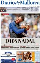 Newspaper front pages cover Rafael Nadal victory at Roland Garros 2017 front page (8)