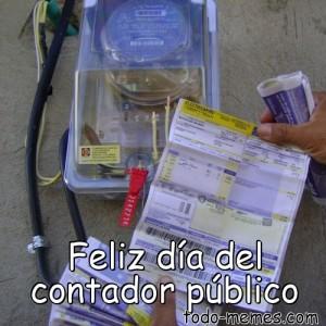 meme de feliz día del contador público