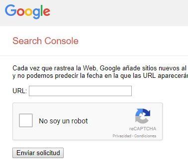 Cómo enviar url a Google