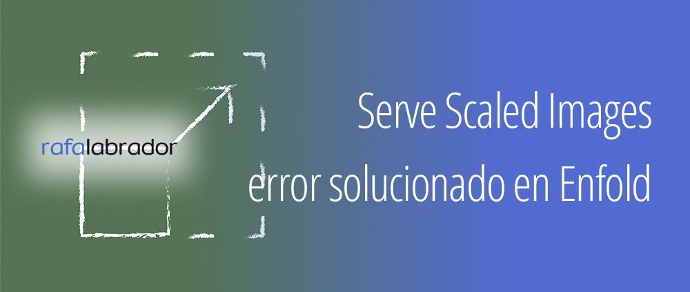 Error Serve Scaled Images de GTmetrix solucionado en Enfold