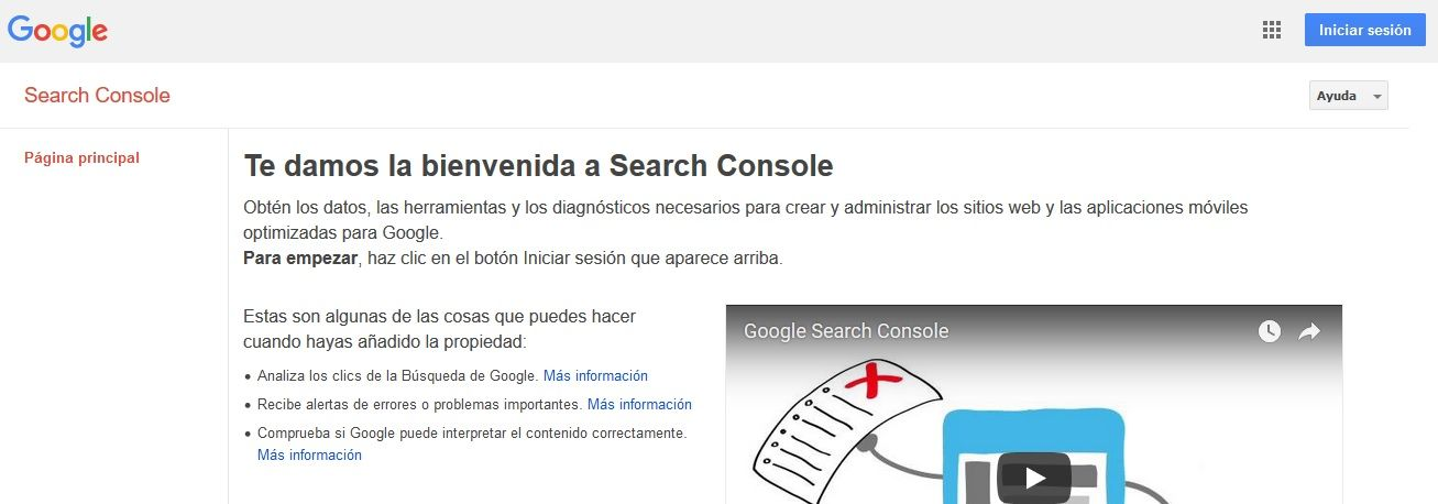 Herramienta para enlaces rotos Search Console