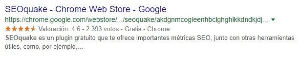 SERP SEOquake Chrome