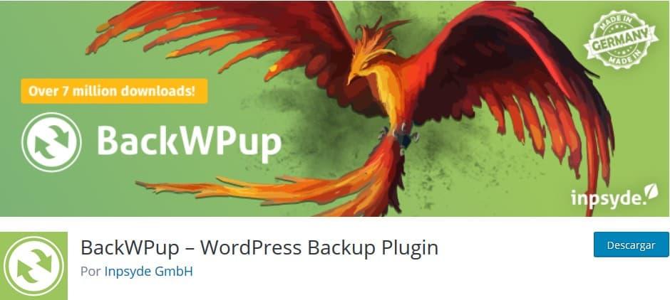 BackWPup Plugin Backup WordPress