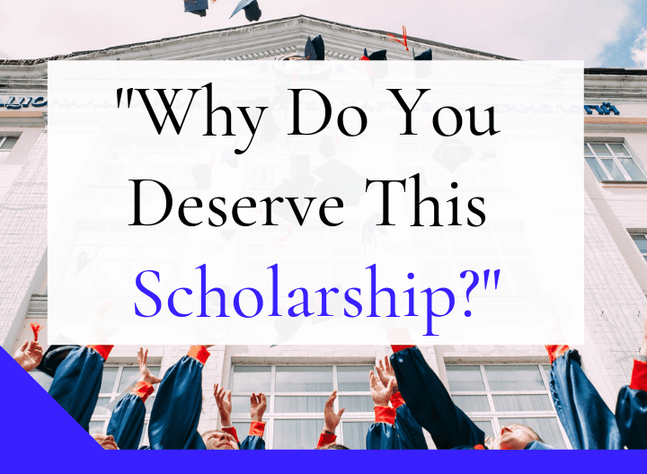Essay on why i deserve this scholarship
